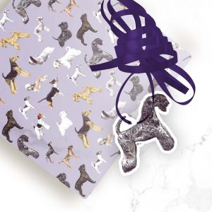 Kerry Blue Terrier – Shaped Gift Tags (Pack of Three)
