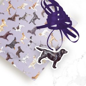 Black Labrador Retriever – Shaped Gift Tags (Pack of Three)