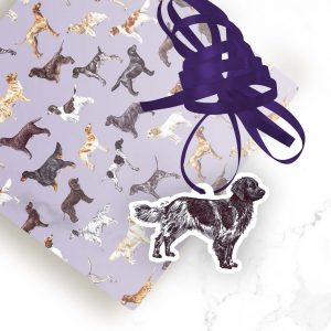 Large Munsterlander – Shaped Gift Tags (Pack of Three)