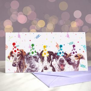 Left in the Lurcher – Greeting Card