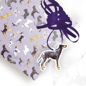 Manchester Terrier – Shaped Gift Tags (Pack of Three)