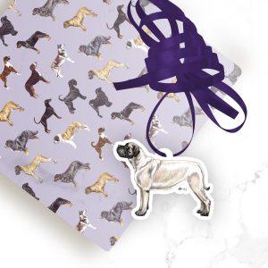 Mastiff – Shaped Gift Tags (Pack of Three)