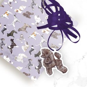Miniature Poodle – Shaped Gift Tags (Pack of Three)