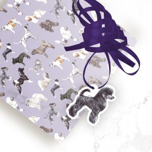 Miniature Poodle Black – Shaped Gift Tags (Pack of Three)