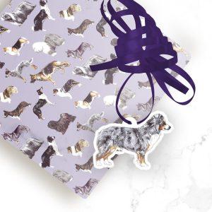 Miniature American Shepherd – Shaped Gift Tags (Pack of Three)