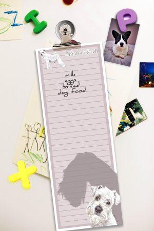 Miniature Schnauzer White – Shopping List