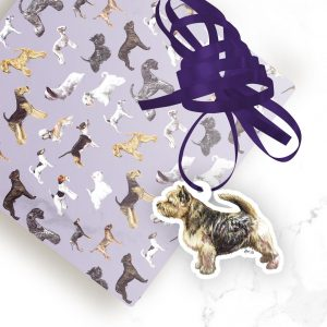 Norwich Terrier – Shaped Gift Tags (Pack of Three)