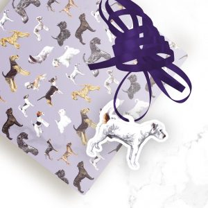 Parson Russell Terrier – Shaped Gift Tags (Pack of Three)