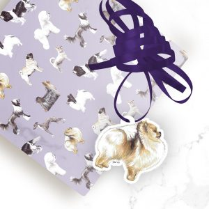 Pomeranian – Shaped Gift Tags (Pack of Three)