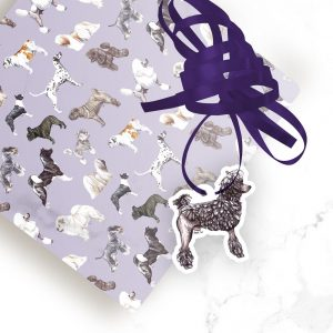 Poodle Corded – Shaped Gift Tags (Pack of Three)
