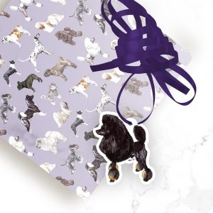 Poodle Phantom – Shaped Gift Tags (Pack of Three)
