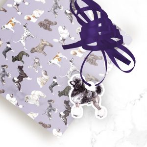 Poodle Sable – Shaped Gift Tags (Pack of Three)