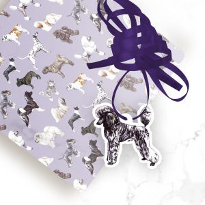 Poodle Silver – Shaped Gift Tags (Pack of Three)