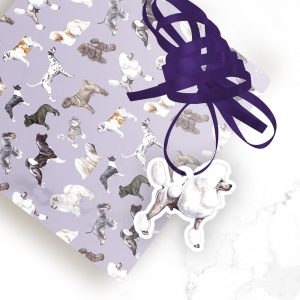 Poodle White – Shaped Gift Tags (Pack of Three)