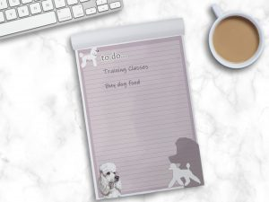 Standard Poodle White – To Do List Pad