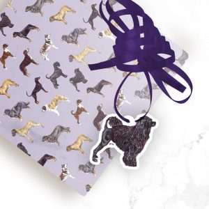 Portuguese Water Dog – Shaped Gift Tags (Pack of Three)
