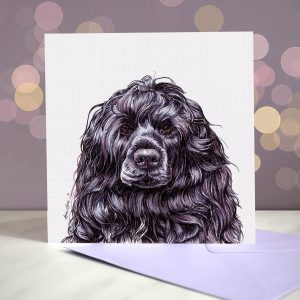 Portuguese Water Dog Greeting Card – Blank Inside