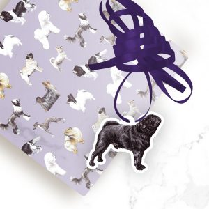 Pug Black – Shaped Gift Tags (Pack of Three)