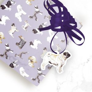Pug – Shaped Gift Tags (Pack of Three)