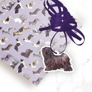 Hungarian Puli- Shaped Gift Tags (Pack of Three)