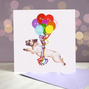 Staffordshire Bull Terrier Greeting Card – Pup, Pup & Away