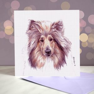 Rough Collie- Greeting Card