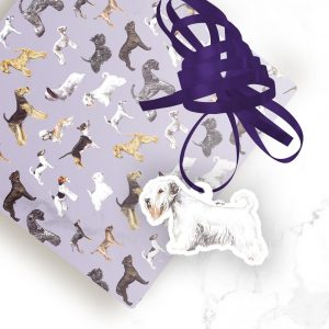 Sealyham Terrier – Shaped Gift Tags (Pack of Three)