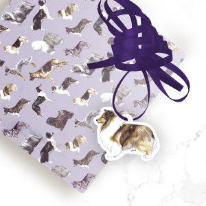 Shetland Sheepdog – Shaped Gift Tags (Pack of Three)
