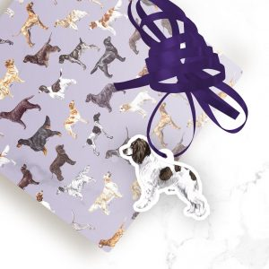 Springer Spaniel – Shaped Gift Tags (Pack of Three)