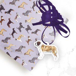 Saint Bernard – Shaped Gift Tags (Pack of Three)