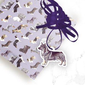 Swedish Vallhund  – Shaped Gift Tags (Pack of Three)