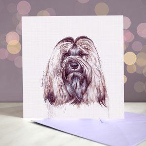 Tibetan Terrier – Greeting Card