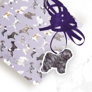 Tibetan Terrier  – Shaped Gift Tags (Pack of Three)