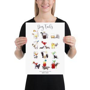 DogTails – Cocktail Menu Poster