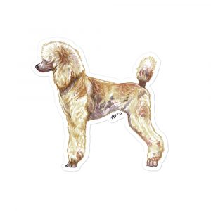 Standard Poodle Red – Shaped Stickers