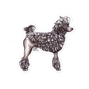 Standard Poodle Corded Shaped Stickers