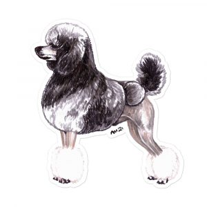 Poodle Sable – Stickers