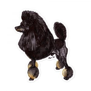 Poodle – Toy Phantom Black and Tan – Stickers