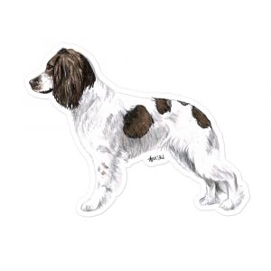 Springer Spaniel – Working Liver and White – Stickers