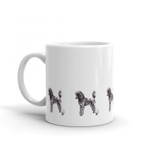 Poodle Silver Brindle – White glossy mug