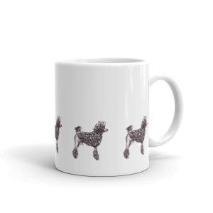 Poodle – Corded White glossy mug