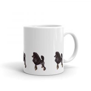 Poodle Phantom Black and Tan – White glossy mug