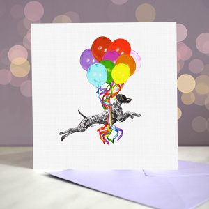 German Shorthaired Pointer Greeting Card – Pup, Pup & Away