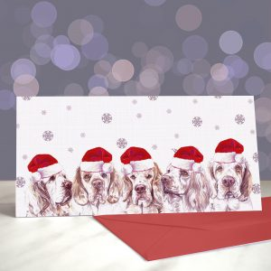 Ain't No Party Like an S-Clumb Party – Clumber Spaniels – Greeting Cards (Christmas)