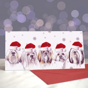 An Apsolute Lhaugh – Lhasa Apso – Greeting Cards (Christmas)