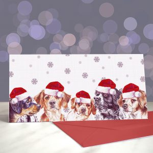 Brittanys in Berets – Greeting Cards (Christmas)
