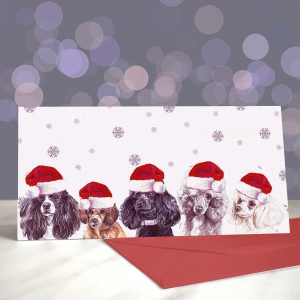 C'mon Feel the Toys – Toy Poodle – Greeting Cards (Christmas)