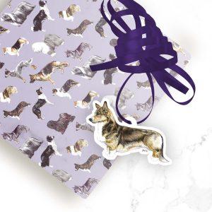 Welsh Cardigan Corgi Sable – Shaped Gift Tags (Pack of Three)