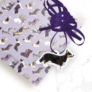 Welsh Cardigan Corgi Tri – Shaped Gift Tags (Pack of Three)