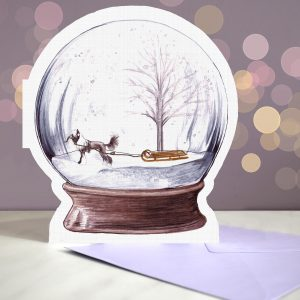 Chinese Crested – Snow Globe Pop Up Card